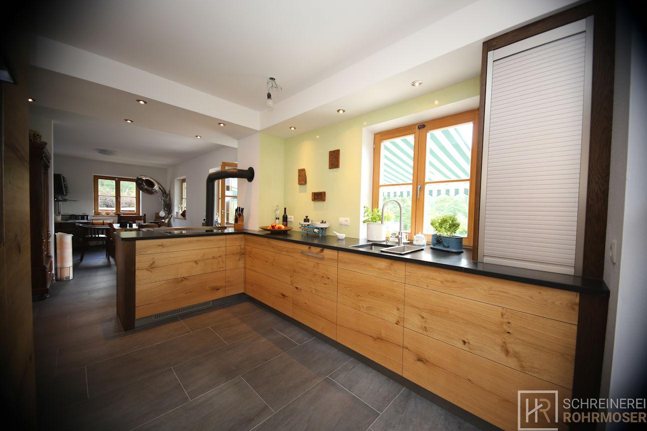 Küche Holzfronten